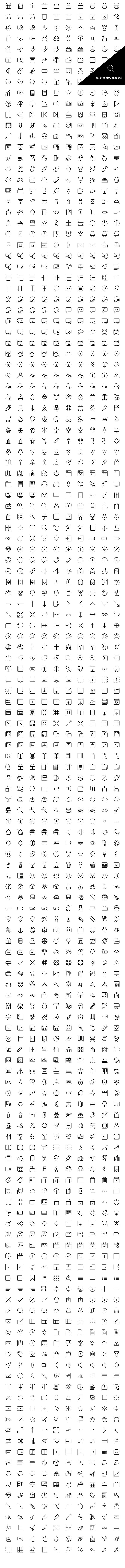 1430 Line Icons Bundle by Creative Stall on Creative Market