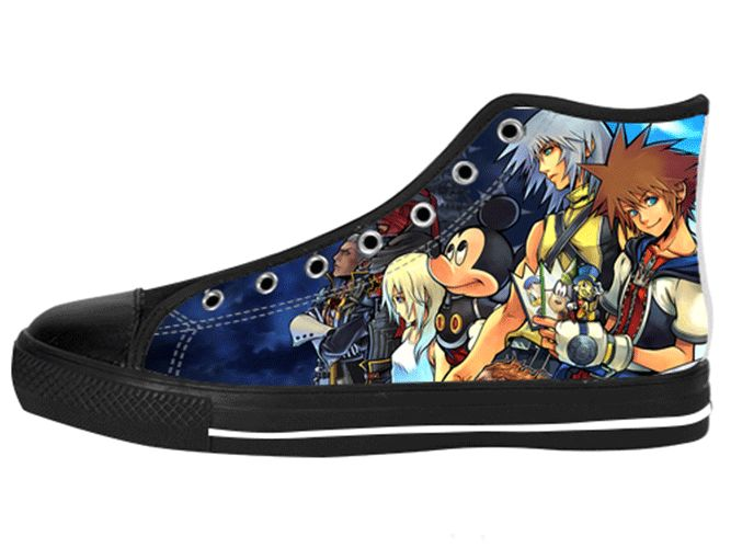 Kingdom Hearts Member Shoes Women's / 5 / Black Chunky, Shoes - spreadlife