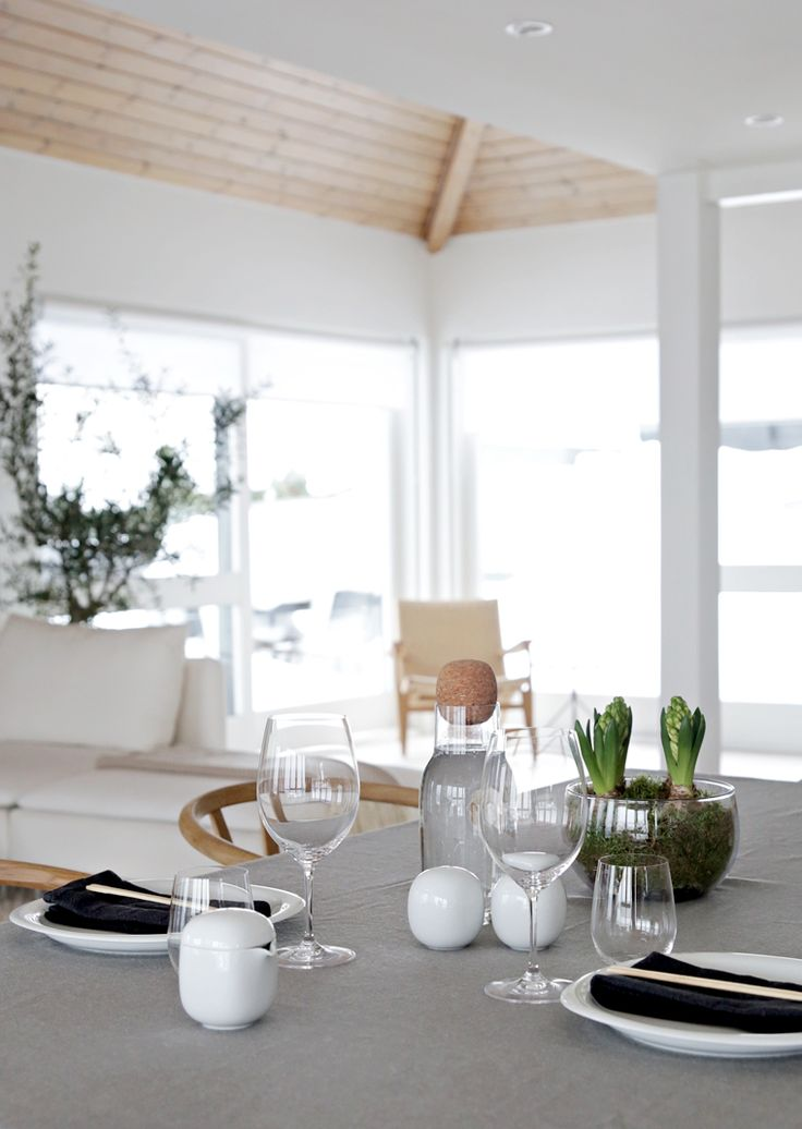 Gray tablecloth on budget