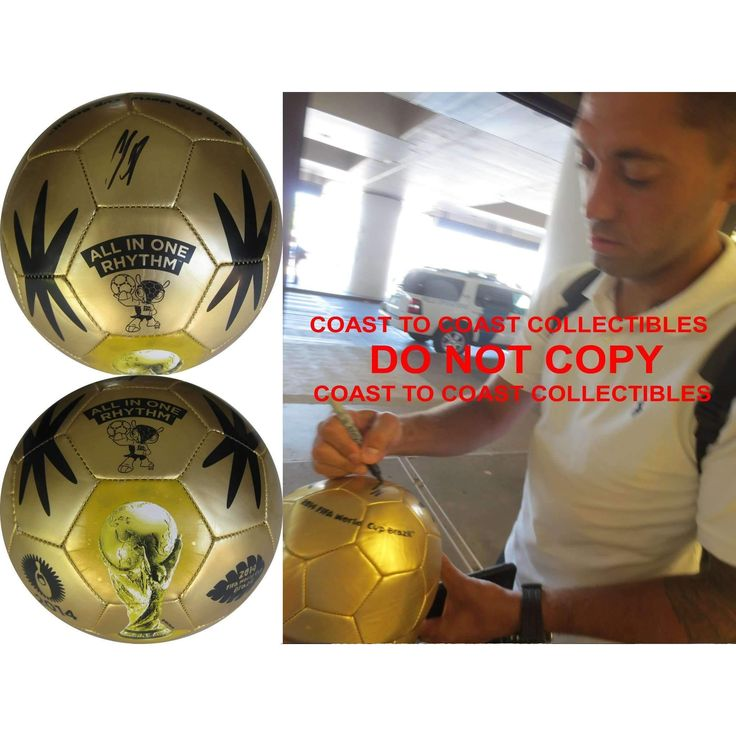 Clint Dempsey, Seattle Sounders, USA Mens Soccer Team, 2014 FIFA World Cup, Signed, Autographed, USA Logo Soccer Ball, a COA with the Proof Photo of Clint Signing the Ball Will Be Included..