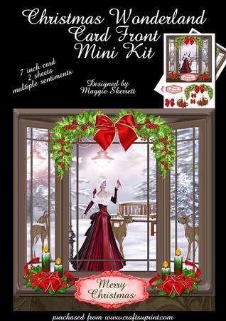 Christmas Wonderland Christmas Card Front Mini Kit on Craftsuprint - Add To Basket!