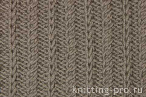 Вертикальный узор  - knitting-pro.ru - От азов к мастерству