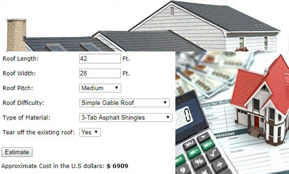 A Roofing Cost Calculator Generally Calculates The Close Estimate Of Roofing Costs For Any New Or Renovated Home It Is Seen Tha Roof Cost Roofing Pitched Roof