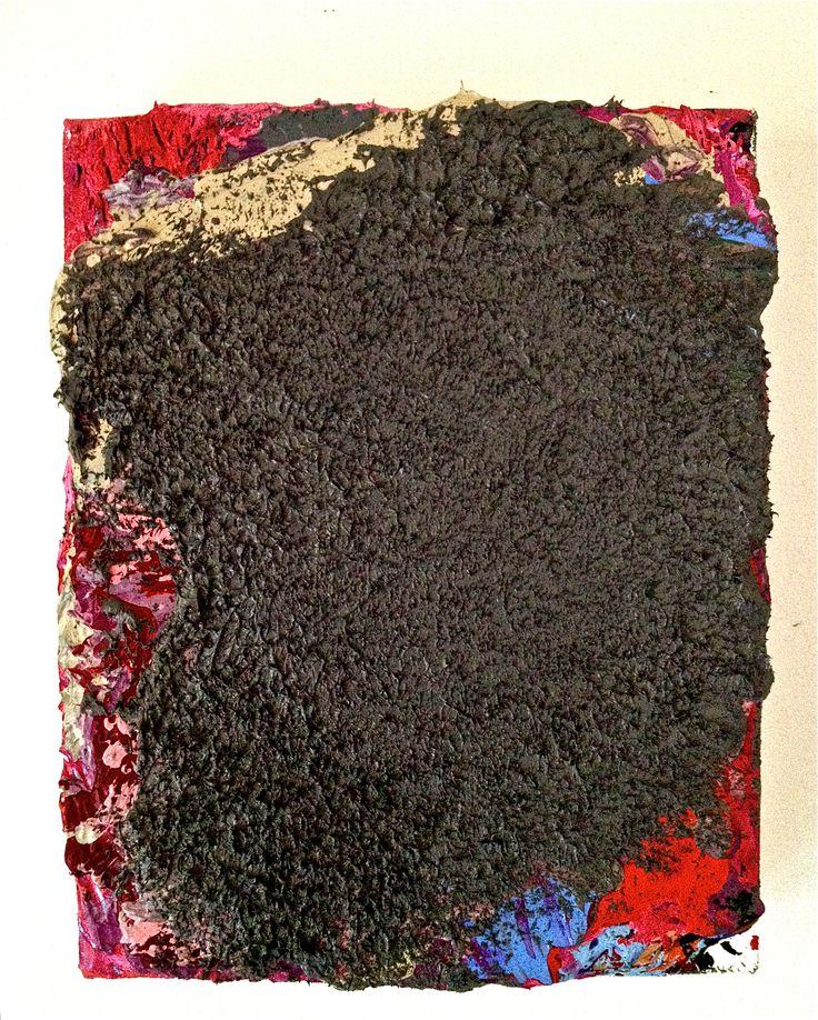 'Huh', oil and acrylic on canvas, 25cm x 20cm