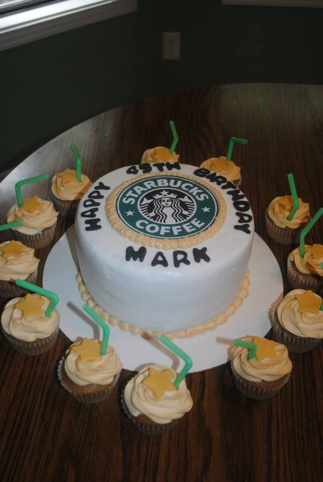starbucks birthday cake starbucks theme cake s big 13 7684