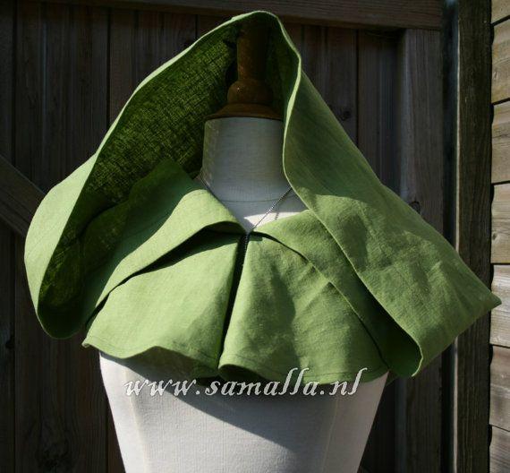 Custom Made: Basic Big Linen Hood or Chaperon with by SamallaNL