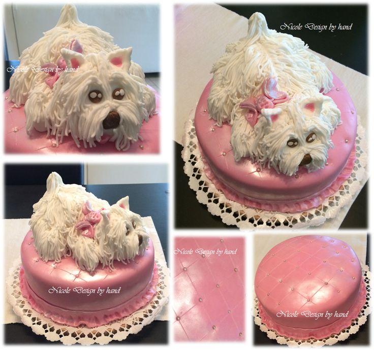 """születésnapi """"Vau"""" kutyus torta házilag"""