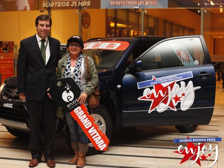 Ana María Colina ganadora del Mega Sorteo en Enjoy Coquimbo.