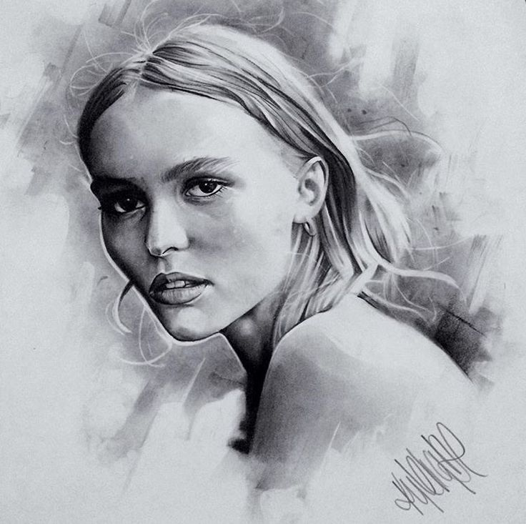Lily Charcoal Original - size A2 portrait. R2,500.00 (incl. VAT). Framed (white wood)