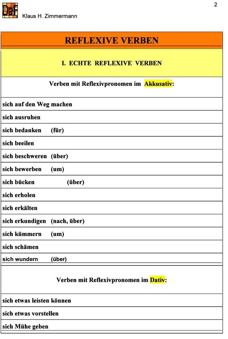 Reflexive Verben Englisch Ubungen - Carterdigital.club