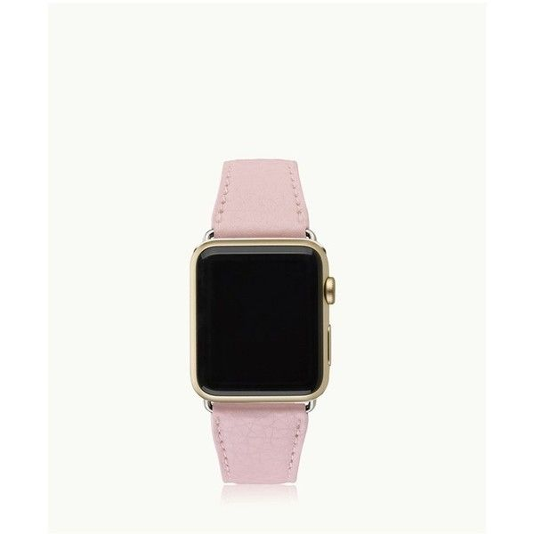 Gigi New York 42Mm Apple Watch Band In Petal Pink Pebble Grain (1,580 MXN) ❤ liked on Polyvore featuring jewelry, watches, accessories, pink, handcrafted jewelry, handcrafted jewellery, pink jewelry, pebble watches and leather-strap watches