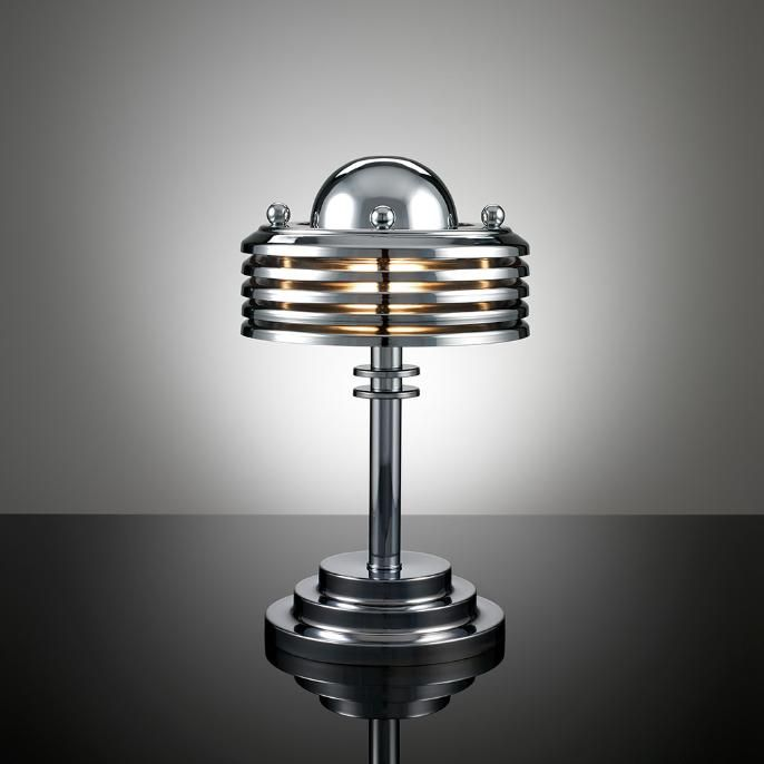 Terry tynan machine age art deco style lamp 2007 materials chrome plated brass dimensions x