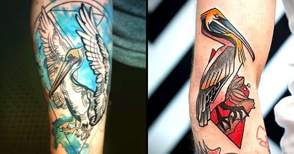 15 Splendid Pelican Tattoos