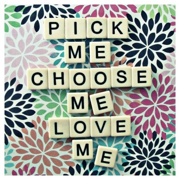 8x8 greys anatomy quote pick me choose me love me scrabble tiles... ❤ liked on Polyvore