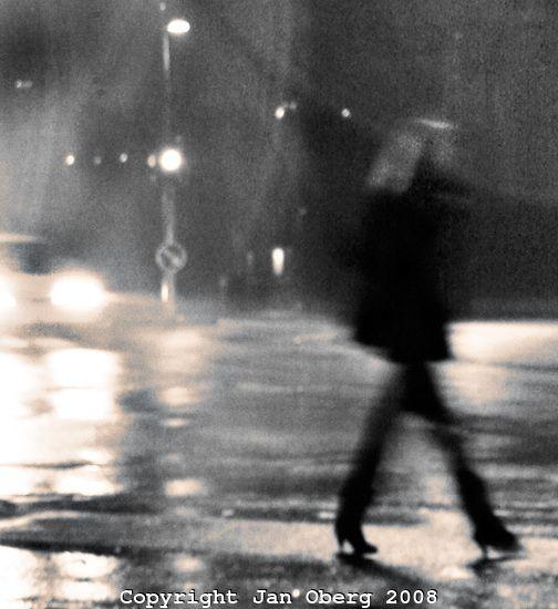 Rain Silhouette Lady 2008