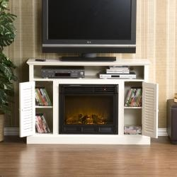 @Overstock - This media console features a unique combination of an electric fireplace and TV stand. This console also features organization for electronic components.http://www.overstock.com/Home-Garden/Herschel-White-Media-Console-Fireplace/5336658/product.html?CID=214117 $568.99