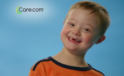 A kid with Down syndrome in a TV commercial! With a speaking part! This is progress