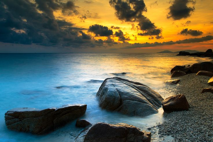Sunset on L island by Kalman Zhang on 500px