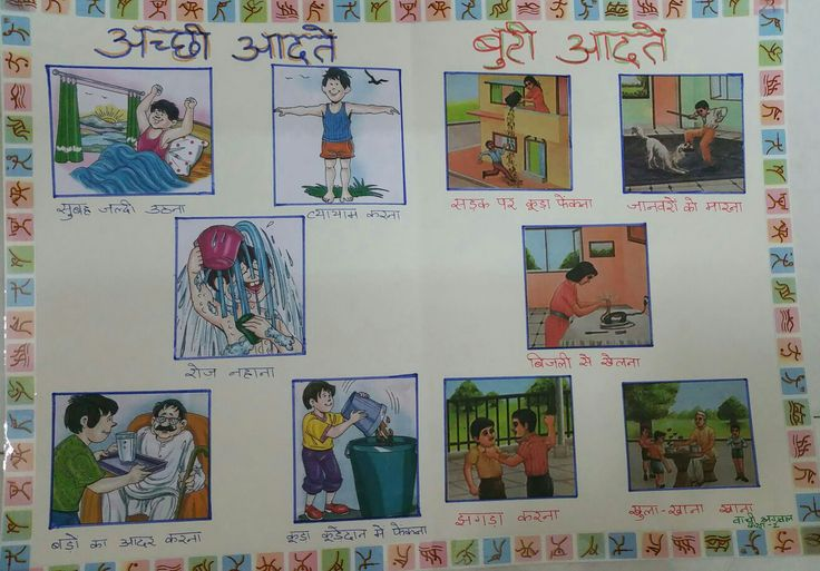 #GoodHabits #BadHabits #Chart in #Hindi