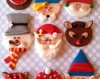 Winter Christmas toppers by CakesbyAngela on Etsy