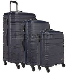 Antler Saturn Hardside Suitcase Set of 3 Navy 41026, 41023, 41022 with FREE GO Travel Luggage Scale G2008