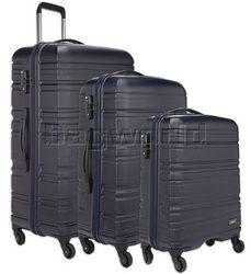 Antler Saturn Hardside Suitcase Set of 3 Navy 41026, 41023, 41022 with FREE GO Travel Luggage Scale G2008