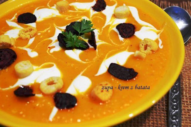 Tradycyjnie z nutką nowoczesności.: Zupa krem z batata