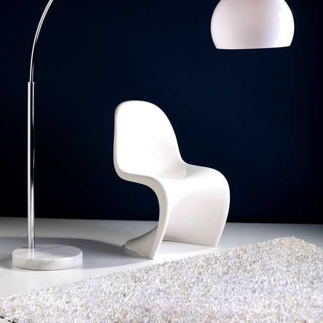 Tappeto Moderno 200 x 300  Bianco Shaggy a pelo alto P15888