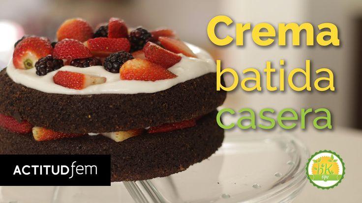 Crema batida casera y súper saludable | BK Tips