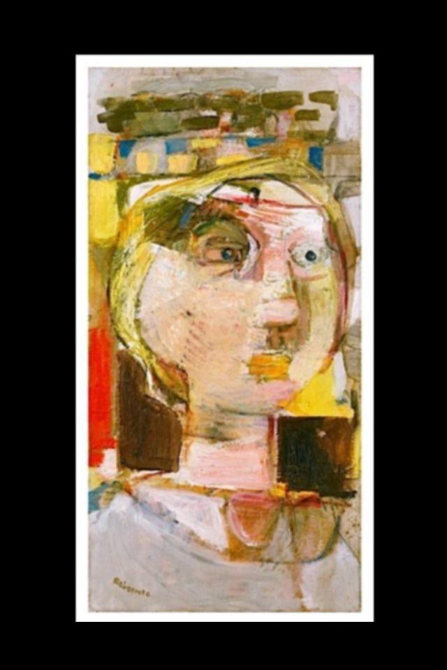 """Paul Rebeyrolle - """"Personnage de buste"""" - Huile sur toile - 100 x 50 cm (*)"""