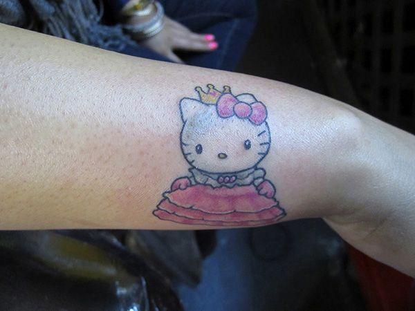 nice 25 Pretty Hello Kitty Bow Tattoo Designs
