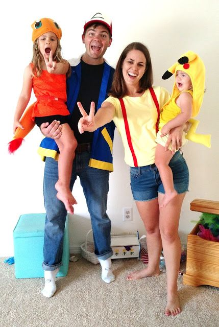 Where's My Dream Life? Pokemon Costumes: Ash Misty Charmander Pikachu