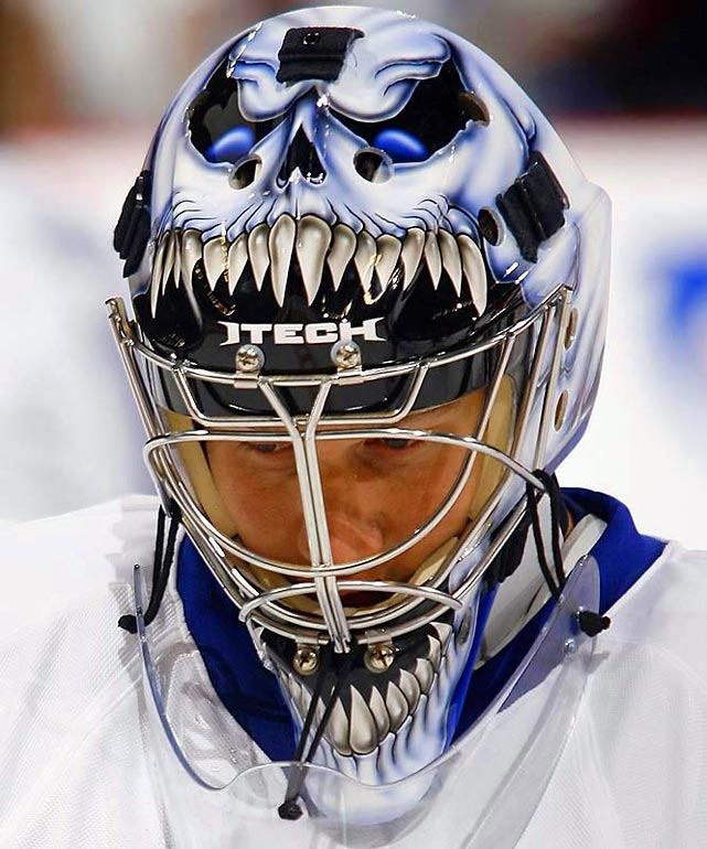 all the goalie helmets of the NHL | ... Maple Leafs