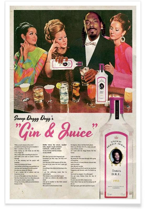 Gin & Juice als Premium Poster von Ads Libitum | JUNIQE