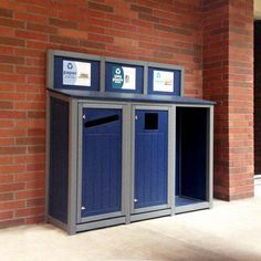 Triple Stream Recycling Station with Custom Header Boards (onsite at Western Oregon University)
