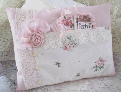 Handmade shabby chic pillows