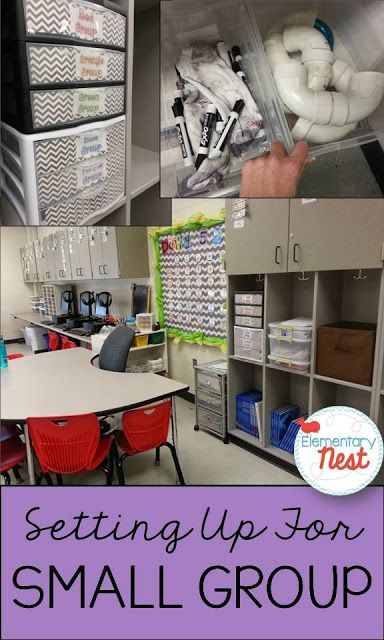 Re-organizing My Small Group Nook - Great ideas for Guided Reading Set-Up and Organization!