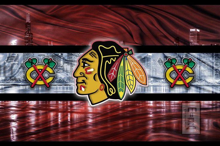 Chicago Blackhawks Hockey Poster, Blackhawks Gift                      – McQDesign