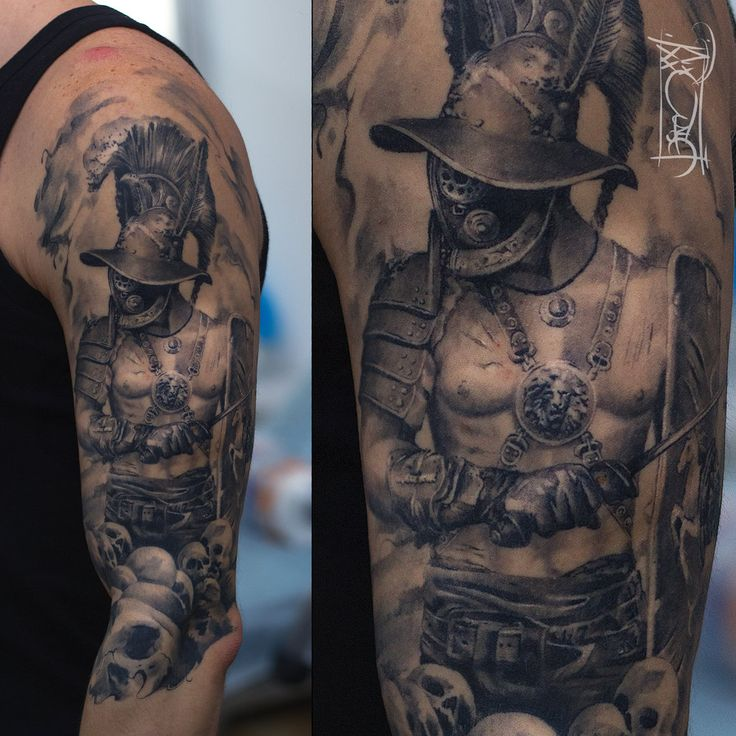 http://www.deviantart.com/art/warrio-484729342 gladiator tattoo