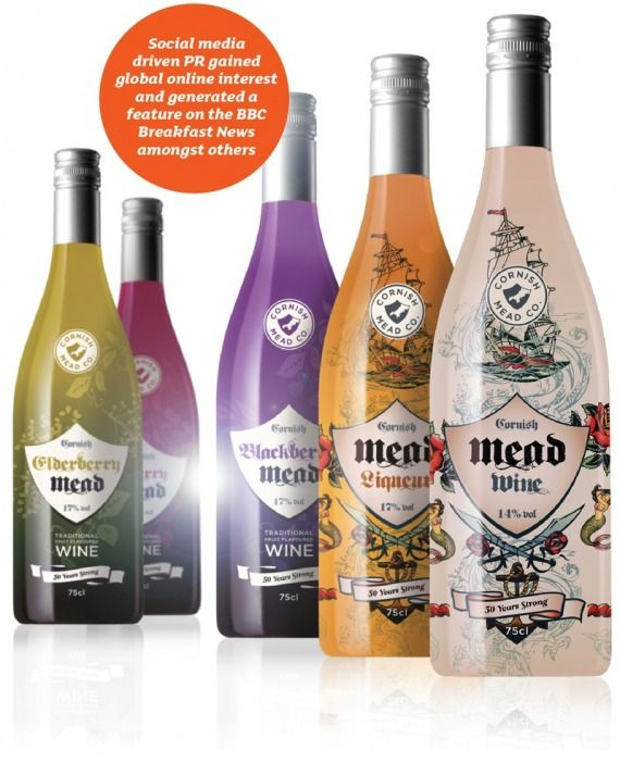 #packaging - Cornish Mead bottle wrap designs