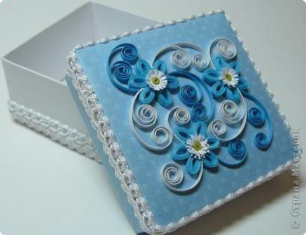 Декор предметов Квиллинг: коробочка Бумага. Фото 2
