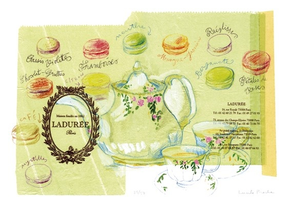 Ladurée: Food Illustration, Tea Time, Macaroons, Illustrations, French Macaron, Art Posters, Kitchen, Food Art, Teatime