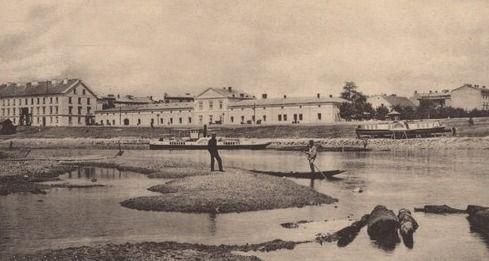 Browar Królewski w Krakowie przy ul. Powiśle. Koniec XIX wieku