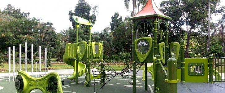 BRISBANE CITY BOTANTICAL GARDENS KIDS PLAYGROUND - Brisbane Kids. A playground for all ages and abilities. Also has access to Special Needs Equipment.