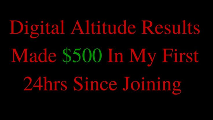 Digital Altitude Results - $500 Within 24hrs Joining Aspire  #Digitalaltitude       #altitudereviews