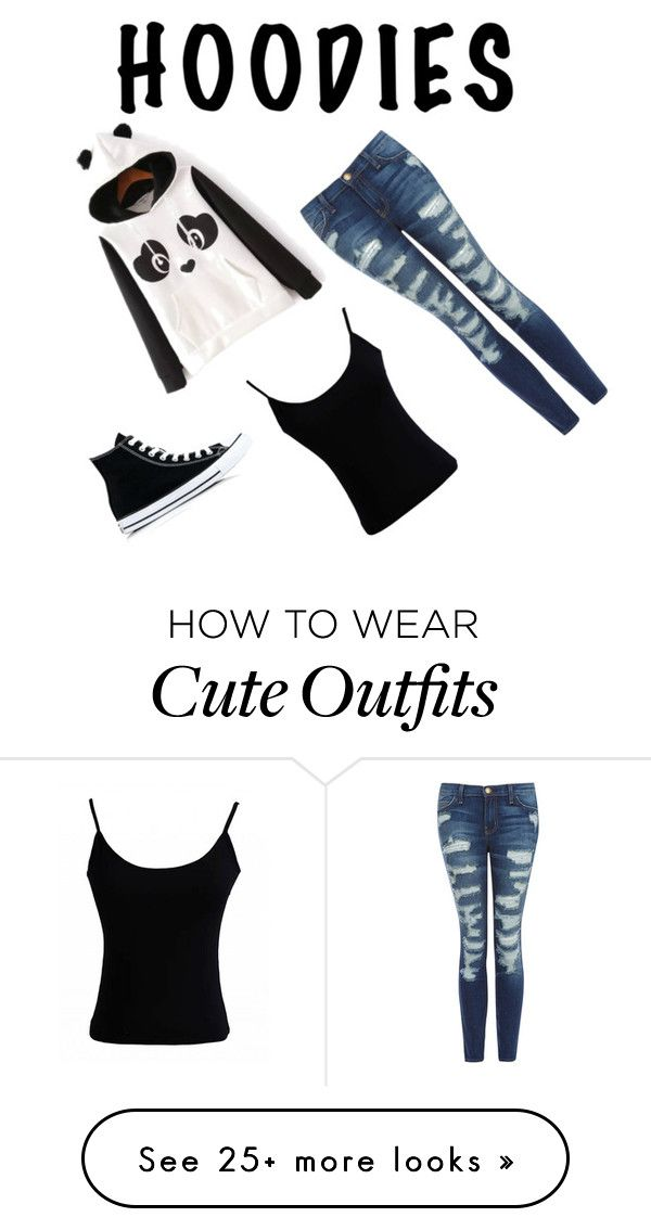 """""""basic cute hoodie outfit"""" by christine-morse-1 on Polyvore featuring Current/Elliott and Converse"""