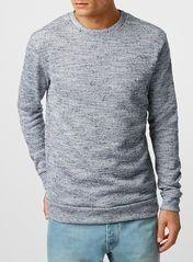 Blue Texture Neppy Sweatshirt