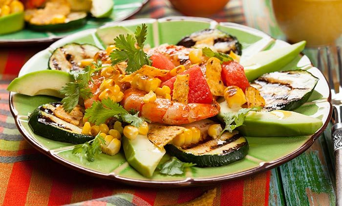 This amazing Mexican salad is an ever favourite among most Latin and American people. It has different textures and flavours and helps you lose weight too.  Alkaline Breakfast - Avocado Breakfast Salad