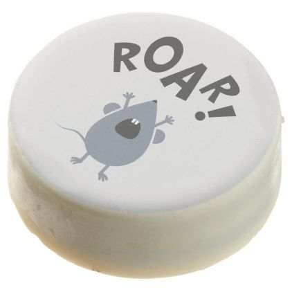 Funny Roar Mouse Design Chocolate Dipped Oreo - fun gifts funny diy customize personal