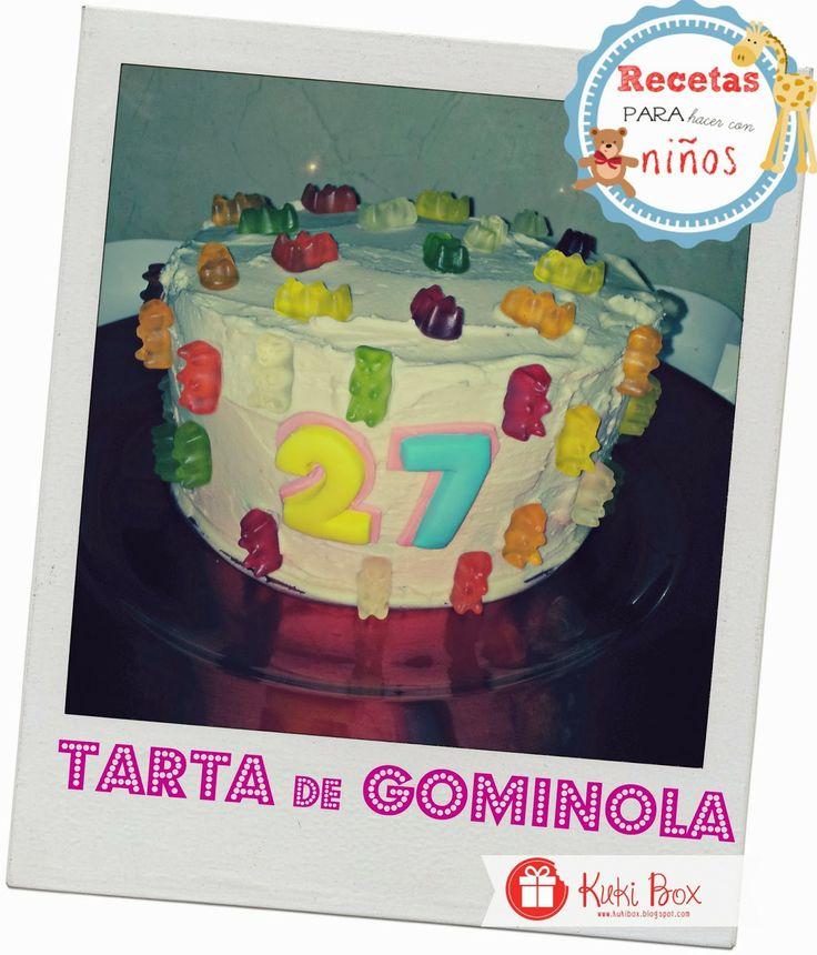 Tarta de Gominolas. Receta para hacer con niños #tartas #gominolas #cake #kid #kukibox http://kukibox.blogspot.com.es/2014/01/tarta-gominola-receta.html